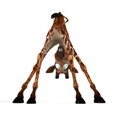 cute giraffe - Image contains a Clipping Path