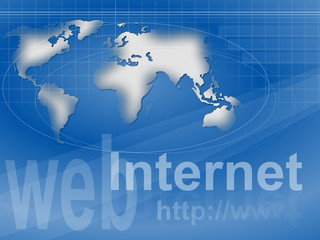 web, Internet, hppt auf Weltkarte