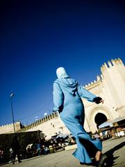 Foto op Canvas Marokko Walking