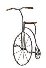 old fashioned bicycle over white