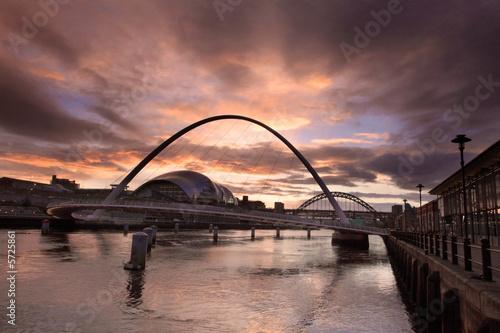 Fototapete The Quayside of Newcastle and Gateshead