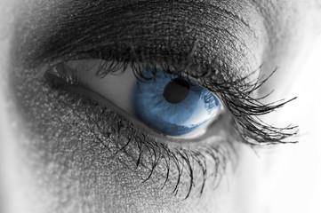 beautiful blue eye, makeup artist