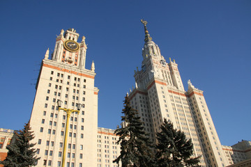 Building of the Moscow State university M.Lomonosova