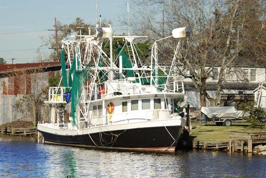 Shrmip Boat in Bayou