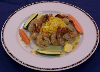 Grilled Shrimp & Risotto