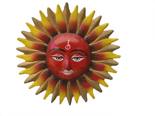 Colorful Sungod Ornament Isolated with clipping path