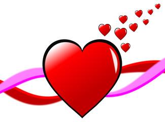 Single Valentines Hearts Background