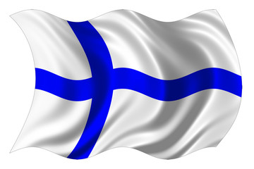finland flag isolated