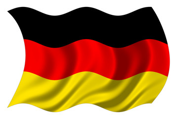 german flag isolated