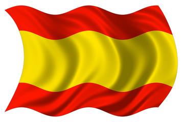 spanish flag isolated