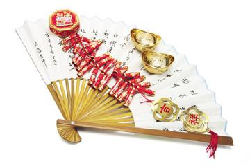 Gold Ingots, Firecrackers and Fan