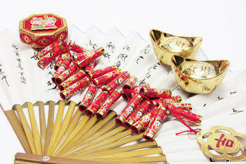 Gold Ingots, Firecrackers and Chinese Fan