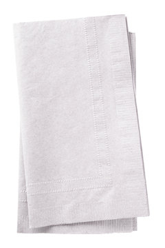 Clipping path included. Stack of two white napkins.