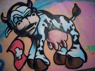 dairy cow grafitti swiss( no copyright)