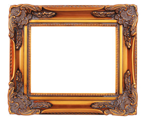 Old fashioned,gold plated wooden picture frame