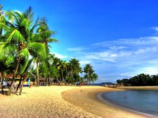 Foto op Plexiglas Singapore Singapur - Siloso Beach (Sentosa Island)