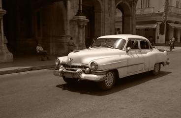 old car in a havana street - Cuba
