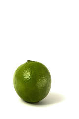 A lime isotaled against a white background