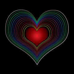 seventies love heart
