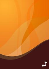 orange wave background - portrait version