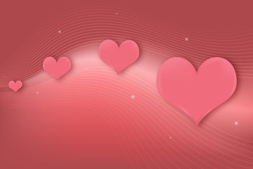 Pink Hearts Greeting Card