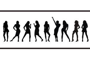 vector silhouette women illustration