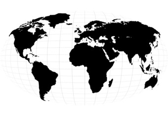 b&w planet, continents, background, world
