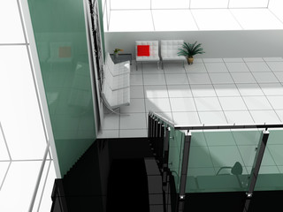 White furniture at office or apartment