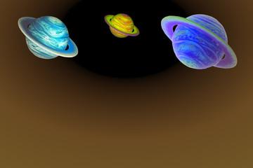 Garden Poster Cosmos fondo planetas