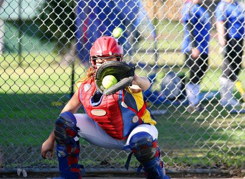 Fastpitch Softball Catcher