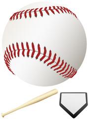 Bat Home Plate & Major League Baseball