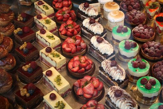 Pastry Display in Paris, France