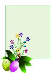 fleurs de printemps et fêtes de pâques