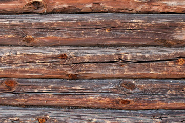 old log home wall detail