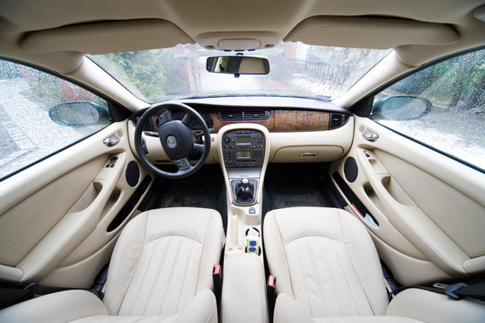 interior of exclusive limousine - photo taken by lens 12 mm