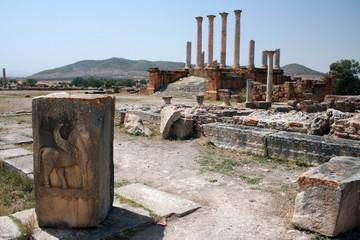 Roman Ruins of Thuburbo Majus in Tunisia