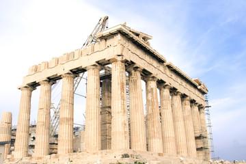 Parthenon at the Acropolis of Athens in Athens, Greece.