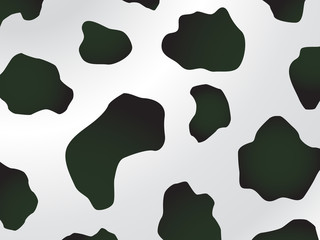 black and white spotted cow design