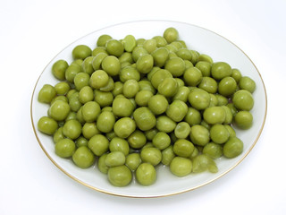 The plate of the rich green pea