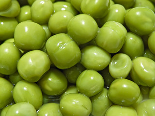 Close up of the scatter rich green pea