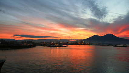 Sunrise over Mount Vesuvius Italy
