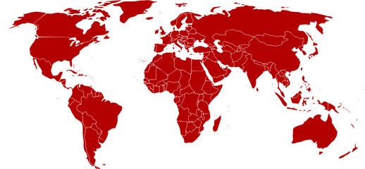 Acrylic Prints World Map mundo