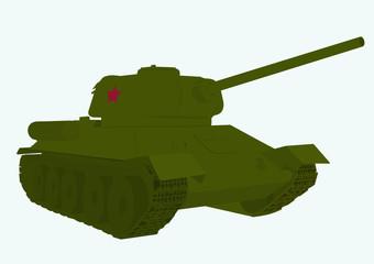 Fotorolgordijn Militair legendary Russian tank of the second world war T 34