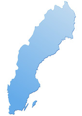 Carte de Suède bleu
