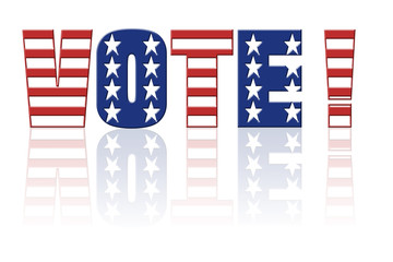Star and stripe Vote word - american election concept