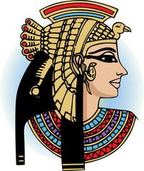 vector head of egyptian queen