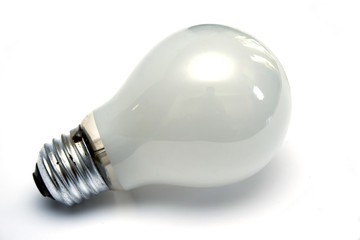 Light bulb at white background