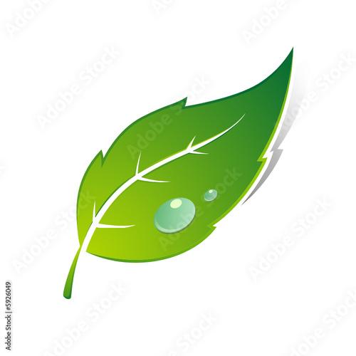 """foto de """"Logo de feuille"""" fichier vectoriel libre de droits sur la"""