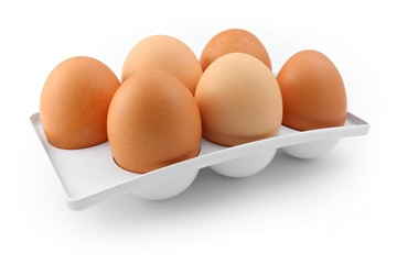 Six-pack of eggs