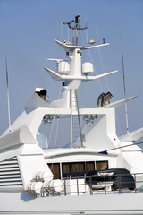 Fragment of the big motor yacht